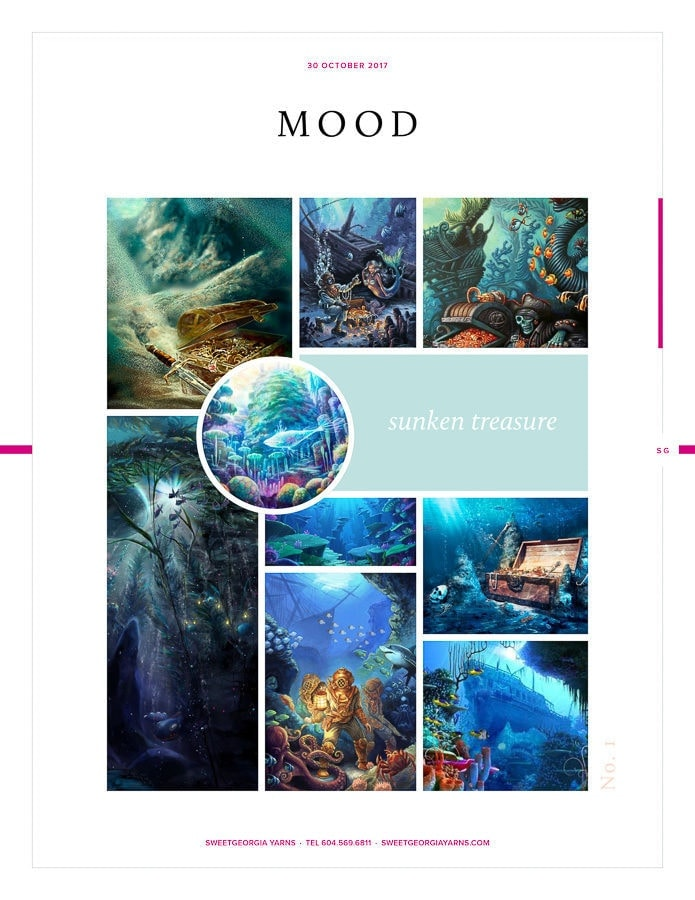 Moodboard with colours and images to represent the idea were trying to focus on